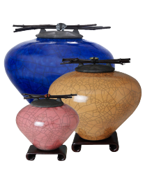 East West Raku Cremation Urn