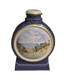 Footprints In The Sand Ceramic Hand-painted Urn
