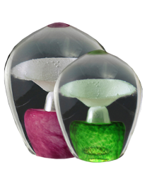 Enduring Fountain Glass Cremation Keepsake