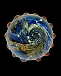 Celestial Glass Art Cremation Keepsake