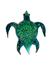 Sea Turtle Glass Art Cremation Keepsake