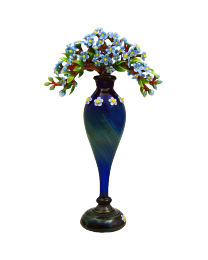 Artisan Glass Forget-Me-Not Keepsake Vase