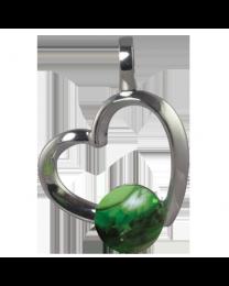 Silver Rhythm Pearl Pendant