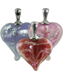 Loving Memory Heart Glass Pendant
