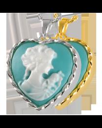 Heart Cameo Marine Green