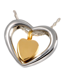 Stainless Steel Heart of Gold