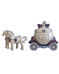 Fairy Tale Horses and Carriage Hand-crafted Urn
