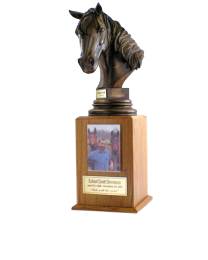 Equestrian Wood Tower Urn
