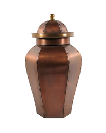 Standing Tall Copper Cremation Urn