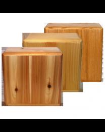 companion wood urn available in pine, cedar or oak