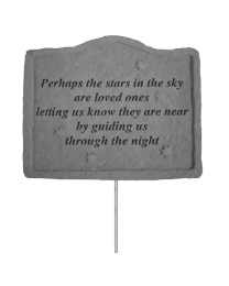 """Perhaps The Stars..."" Memorial Garden Stake"