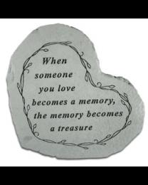 """When Someone You Love..."" Heart Shaped Garden Stone"