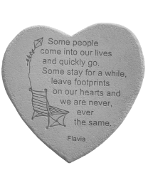 """""""Some People Come Into..."""" Heart Shaped Garden Stone"""