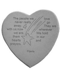 """The People We Love..."" Heart Shaped Garden Stone"