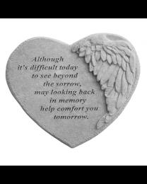 Winged Heart Garden Memorial Stone