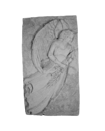 Standing Angel Garden Stone Plaque