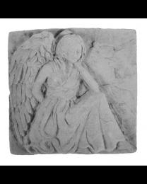 Kneeling Angel Garden Stone Plaque