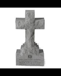 """If Tears Could..."" Cross Shaped Stone Garden Marker"