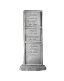"""""""I Thought Of You..."""" Vertical Stone Garden Marker"""