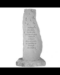 """Perhaps The Stars"" Vertical Stone Garden Marker"