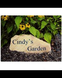 Carved Tennessee Whitestone Garden Marker