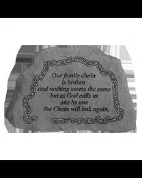 """Our Family Chain..."" Small Garden Memorial Stone"