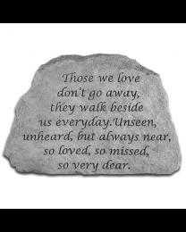 """Those We Love..."" Small Memorial Garden Stone"