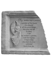"""""""My Mother Kept..."""" Framed Angel Garden Stone"""