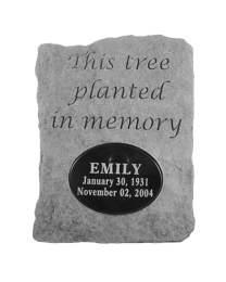 """""""This Tree Planted..."""" Engravable Garden Stone"""