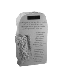 """I Thought Of You..."" Angel Engravable Garden Marker"