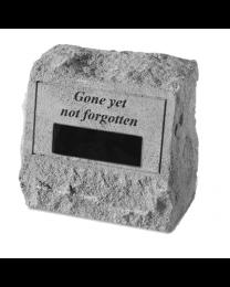 """""""Gone Yet Not Forgotten"""" Engravable Garden Memorial Stone Urn"""