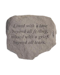 """""""Loved With A Love..."""" Garden Memorial Stone"""