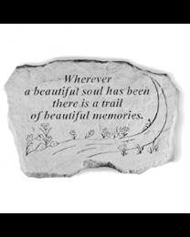 """""""Wherever A Beautiful..."""" Garden Memorial Stone"""