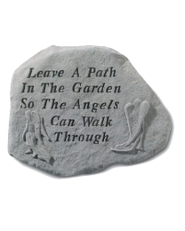 """Leave A Path..."" Angel Garden Memorial Stone"