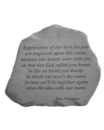 """Expressions Of Our Love..."" Garden Memorial Stone"