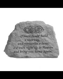 """If Tears..."" Celtic Knot Garden Memorial Stone"