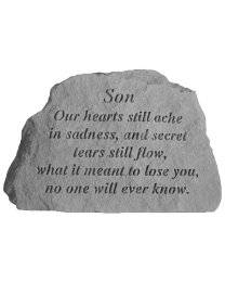 """Son Our Hearts..."" Garden Memorial Stone"