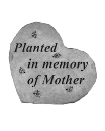 Planted In Memory Of Mother Garden Memorial Stone