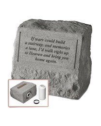 """If Tears Could Build..."" Garden Stone With Urn Insert"