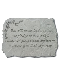 """""""You Will Never Be..."""" Large Garden Memorial Stone"""