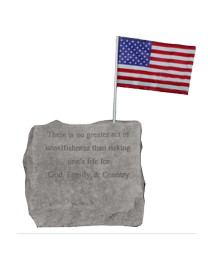 """""""There Is No Greater..."""" Military Service Garden Stone"""