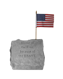 """Home Of The Free..."" Military Service Garden Stone"