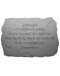 """""""Although It's Difficult..."""" Large Garden Memorial Stone"""