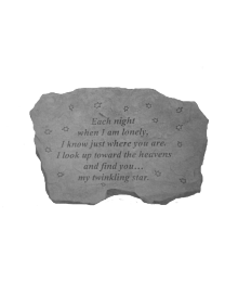 """""""Each Night When I Am..."""" Garden Memorial Stone"""