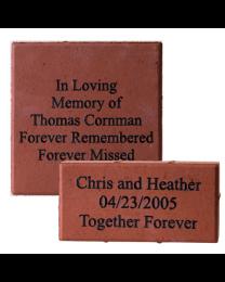 concrete easel for outdoor stone or plaque memorials