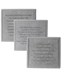 memorial garden stone with daffodil and heartfelt verse