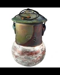 Temple Raku Pottery Urn