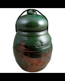Ancient Jade Raku Individual Urn