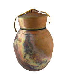 Golden Mountain Raku Oversized Urn