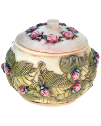 Ceramic Ladybug Keepsake Jar